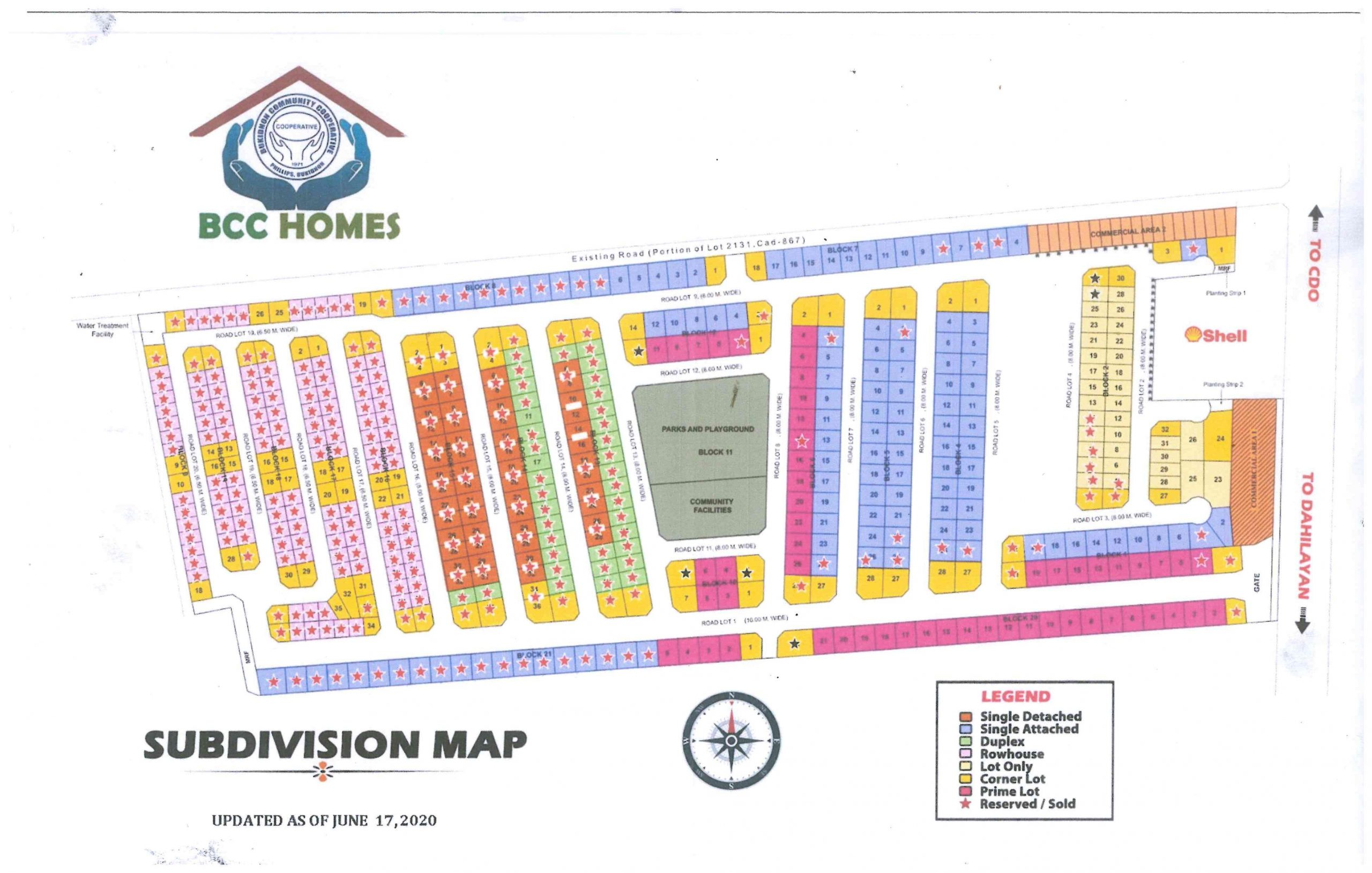 BCC Homes Subdivision Map